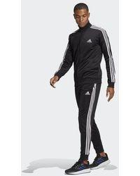 adidas Primegreen Essentials 3-stripes Tracksuit - Black