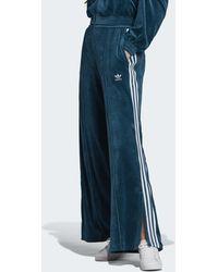 adidas Pantalon de survêtement Velour - Bleu