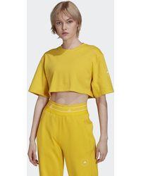 adidas By Stella Mccartney Future Playground Cropped T-shirt - Geel