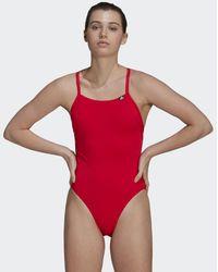 adidas Sports Performance Solid Badeanzug - Rot