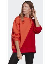 adidas Adicolor Sliced Trefoil Sweatshirt - Rood