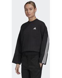 adidas 3-stripes Doubleknit Sweatshirt - Zwart