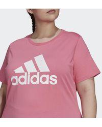 adidas Essentials Logo T-shirt (grote Maat) - Roze