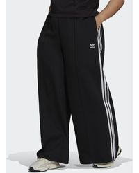 adidas Relaxed Wide-leg Primeblue Joggers (plus Size) - Black