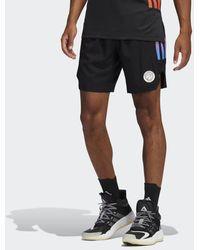 adidas Paris Basketball Uitshort - Zwart