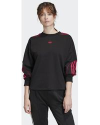 adidas Cropped Sweatshirt - Schwarz