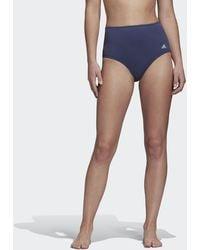 adidas High Waist Bikini Broekje - Blauw