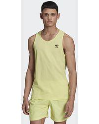adidas Camiseta sin mangas Adicolor Essentials Trefoil - Amarillo