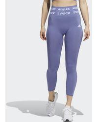 adidas Training Aeroknit 7/8 High-rise Legging - Paars