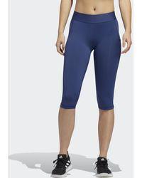adidas Alphaskin Capri Legging - Blauw