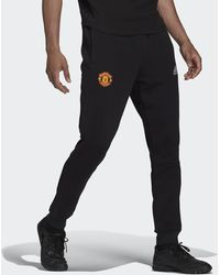 adidas Manchester United Travel Tracksuit Bottoms - Black