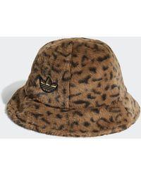 adidas Sprt Faux Fur Printed Bucket Hat - Brown