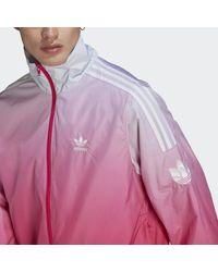 adidas Adicolor 3d Trefoil 3-stripes Ombré Trainingsjack - Roze