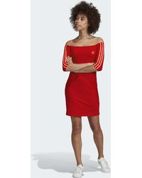 adidas Robe Off-the-Shoulder - Rouge