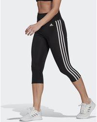 adidas Designed To Move High-rise 3-stripes 3/4 Sportlegging - Zwart
