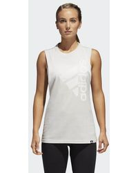 adidas - Badge Of Sport Hack Muscle Tank Top - Lyst