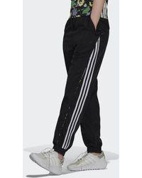 adidas Floral Piping Woven High-waist Trainingsbroek - Zwart