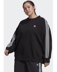 adidas Sweat-shirt LOUNGEWEAR Adicolor Classics Oversize (Grandes tailles) - Noir