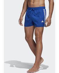 adidas 3-stripes Clx Zwemshort - Blauw