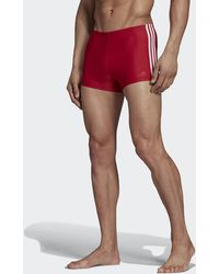 adidas 3-stripes Zwemboxer - Rood