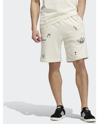 adidas Allover Print Floral Short - Wit