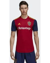 b1839b8e9e4 adidas Real Madrid Ea Sports Jersey in Blue for Men - Lyst