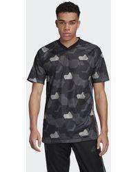 adidas Tan Tech Graphic Voetbalshirt - Zwart