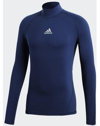 adidas Alphaskin Sport Climawarm Longsleeve - Blauw