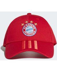 877e8415d03112 Six-panel Classic 3-stripes Hat. $18. Adidas. adidas - Fc Bayern 3-stripes  Cap - Lyst