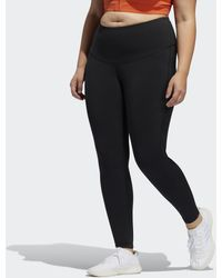 adidas Tight 7/8 Believe This Solid (Taglie forti) - Nero