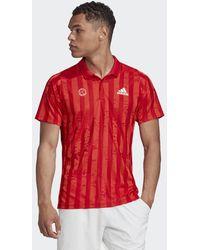 adidas Freelift Tennis Poloshirt Engineered - Rood