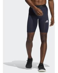 adidas Techfit Korte Legging - Blauw