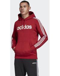 adidas Essentials 3-stripes Pullover Hoodie - Red