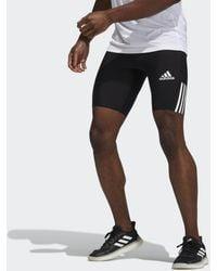 adidas Aeroready Lyte Ryde Techfit Korte Legging - Zwart