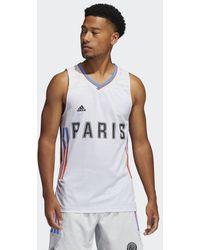 adidas Paris Basketball Thuisshirt - Grijs