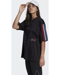 adidas - T-shirt adicolor Tricolor Oversize - Lyst