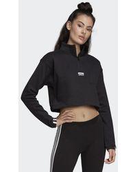 adidas Cropped Sweatshirt - Zwart