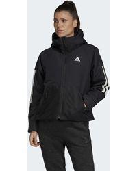 3 Hooded To Back Sports Streifen Jacke Insulated xrdQCtsh