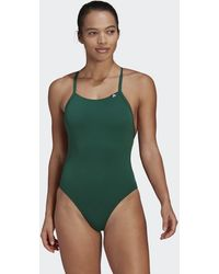 adidas Sports Performance Solid Swimsuit - Green