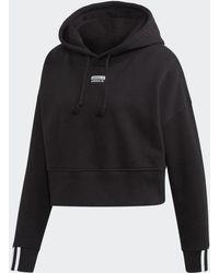 adidas Cropped Hoodie - Black