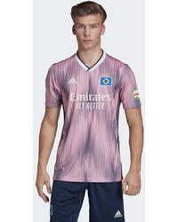 adidas Maillot Hambourg SV Extérieur - Rose
