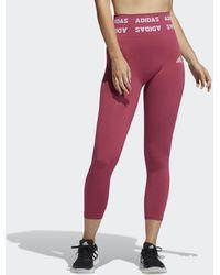 adidas Tight 7/8 Training Aeroknit High-Rise - Rosa