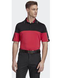 adidas Ultimate365 Striped Poloshirt - Schwarz