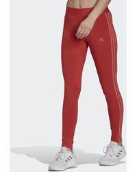 adidas Loungewear Essentials 3-stripes Legging - Rood
