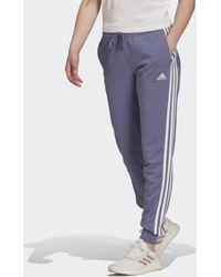 adidas Essentials French Terry 3-stripes Broek - Paars