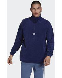adidas Adicolor Classics Teddy Fleece Half-Zip Oberteil - Blau
