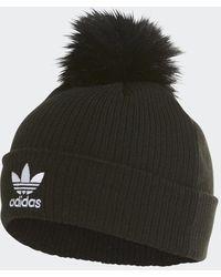 adidas Faux Fur Pompon Beanie - Zwart