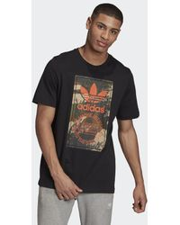 adidas Camo Tongue T-shirt - Zwart