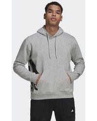 adidas Big Badge Of Sport Boxy Hoodie - Gray