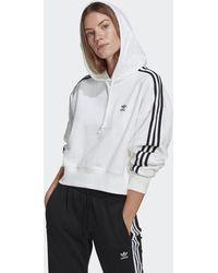 adidas Adicolor Classics Crop Hoodie - White
